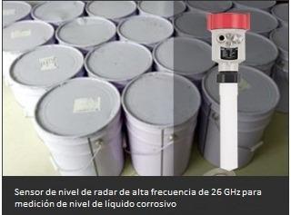 Sensor de nivel de radar de alta frecuencia de 26 GHz para medición de nivel de líquido corrosivo